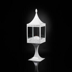 Top Light of Sultan con Base, Lanterna in acciaio bianco