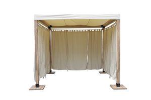 Venezia 849, Gazebo in legno semplice e lineare dotato di copertura in tessuto