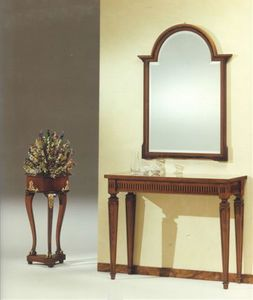 2555 CONSOLLE, Consolle classica di lusso, in solido legno lavorato a mano