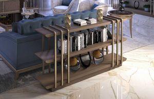 Art. 5120, Consolle retro divano in noce Canaletto