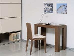 Complementi Tavoli e Consolle 11, Consolle allungabile in legno e metallo