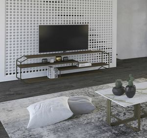 Yin consolle TV, Consolle TV in ferro e legno