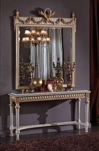 3425 CONSOLLE, Consolle con piano marmo, in stile Luigi XVI