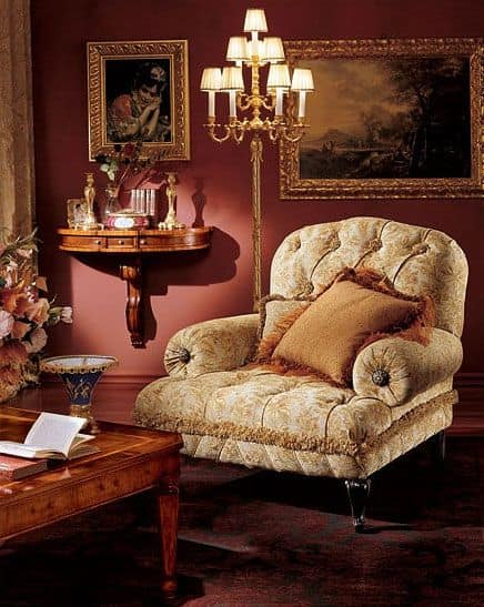 Albina console, Consolle in legno da parete con 3 cassetti, stile classico
