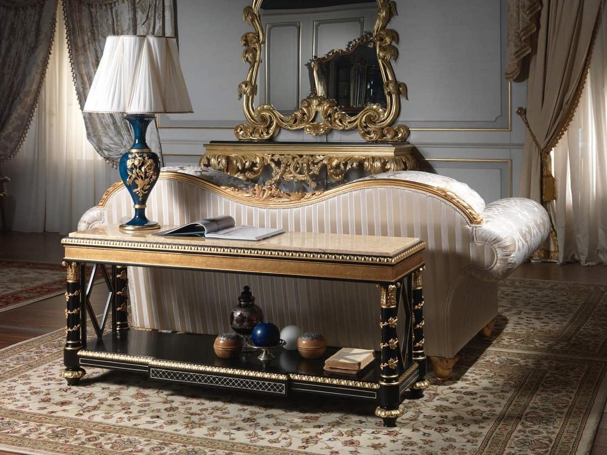 Art. 2096 Étagère Luigi XV, Étagère in stile cinese, con piano in marmo