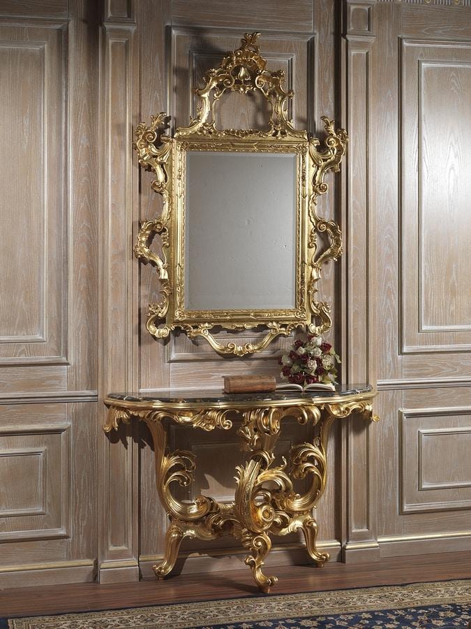 Art. 660 consolle, Consolle classica, con piano in marmo