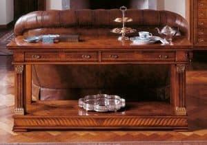 Art. 776/BF, Consolle in legno con due ripiani, stile classico