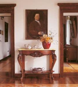 Art. 860, Consolles classiche, in legno intarsiato a mano, per ingressi