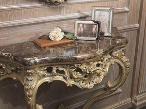 Art. 920 consolle, Console con piano marmo emperador