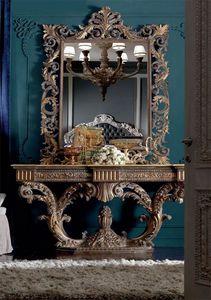 Barocchetto consolle, Consolle barocca ricca di intagli
