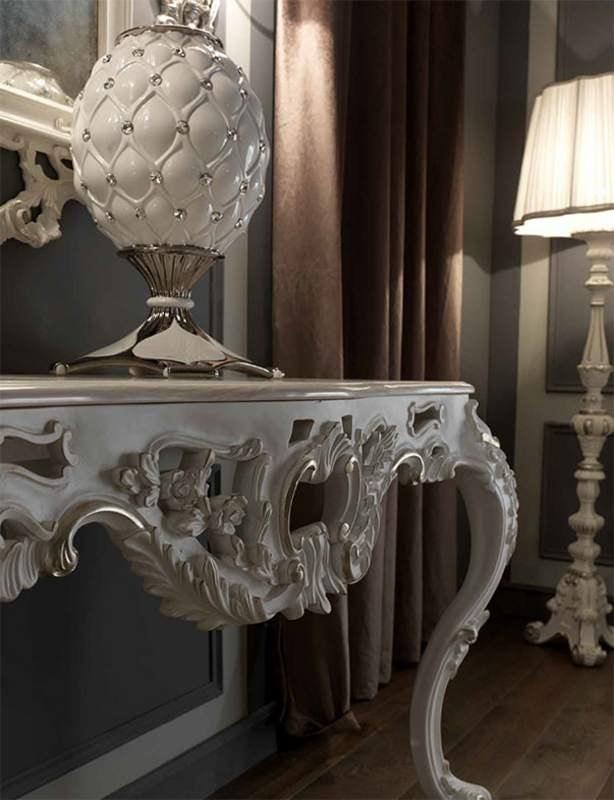 Barocco Fiorentino consolle, Consolle barocca, con piano in marmo rosa