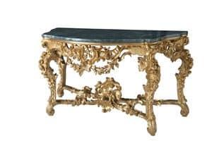CONSOLLE ART. CL 0002, Consolle  intagliata in stile Barocco, per alberghi di lusso