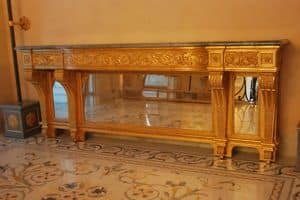 CONSOLLE ART. CL 0061, Consolle neoclassica intagliata e dorata, per alberghi