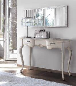 Firenze consolle, Consolle in legno laccato, con 3 cassetti, classica