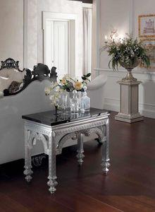 Opale console, Console con piano in marmo nero