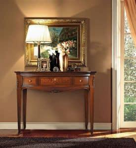 Praga Consolle, Consolle in legno, intagliata a mano, stile classico di lusso