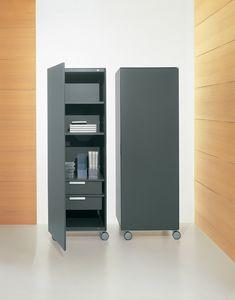 ROLLERBOX comp.02, Contenitore verticale per ufficio, mobile per la casa