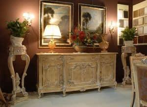 3485 CREDENZA, Credenza con 3 ante per sala da pranzo in stile classico