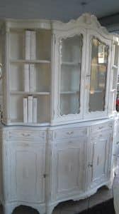 8235 CRISTALLIERA, Vetrina in stile classico, lavorata a mano