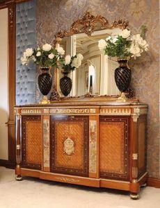 Art. 125, Credenza classica, con inserti in marmo