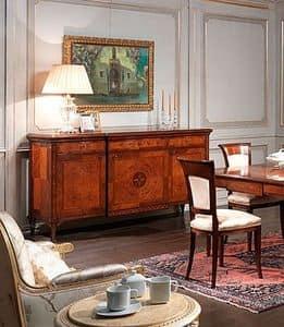Art. 910 credenza, Credenze in legno, per sala da pranzo in stile classico