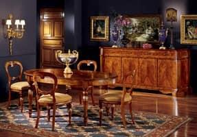 Ferrara credenza 746, Credenza classica di lusso con intarsi