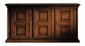 Fosciandora ME.0448, Credenza in noce con 3 porte, intarsiata, classica