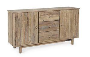 Credenza 2A-3C Rania, Credenza in legno teak riciclato