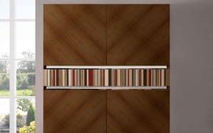 ATHENA QUADRA BC-TEAK, Credenza in teak realizzata a mano, 2 ante, ideale per ambienti eleganti
