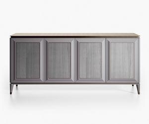 Bluemoon Art. B125, Elegante credenza in legno laccato grigio
