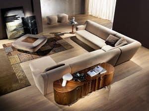 CR51 credenza, Credenza classica in noce canaletto ideale per ambienti residenziali