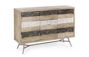 Credenza 2A-3C Leiston, Credenza in legno rustico