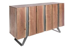 Credenza 3A Aron, Credenza in legno di acacia e metallo