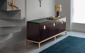 Zuan Dining Cabinet, Elegante cabinet dalle linee essenziali