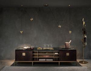Zuan Living Cabinet, Mobile salotto con piano in marmo