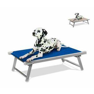 Brandina per cani lettino alluminio sdraio animali cuccia DOGGY - LC104TEX, Brandina per cani in alluminio