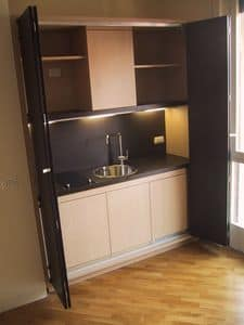 LINEA OFFICE, Cucina a scomparsa per piccoli ambienti, funzionale, su misura