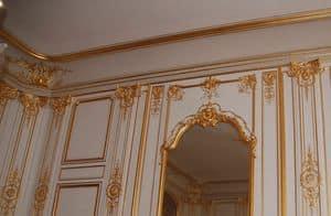 Boiserie Luigi XIV, Boiserie luigi XIV, con intagli a foglia oro