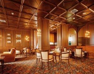 Controsoffitto, Controsoffitto classico in legno ideal per hotel di lusso