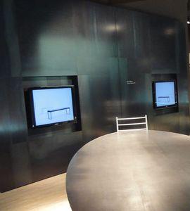 Freedom, Boiserie in acciaio, rivestimento modulare per parete e soffitto