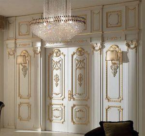 Palazzo Farnese boiserie, Boiserie classica intagliata a mano