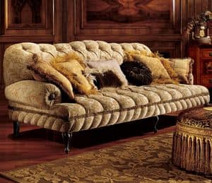 Albina divano, Divano classico a 3 posti con imbottitura capitonn�