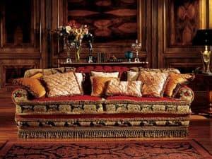 Angelica divano, Divano classico di lusso, realizzato a mano