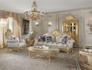 Lario divano, Divano stile classico con decorazioni in pizzo