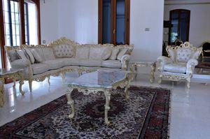 Maria Angolare Tessuto, Divano in stile barocco interamente realizzato a mano