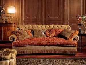 Nathalia divano, Divano con schienale capitonn�, stile classico