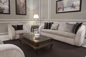 New York divano, Divano arrotondato, rivestito in tessuto
