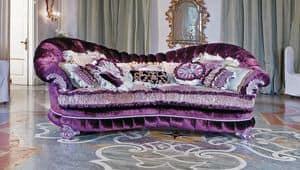 Raffaello, Divano in stile classico di lusso, per salotti