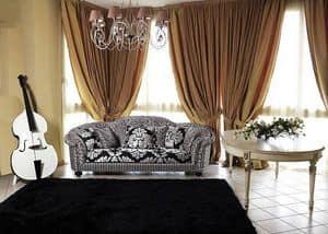Silvia divano, Divano classico di lusso per salotto