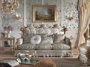Barone divano, Divano classico, intagliato a mano